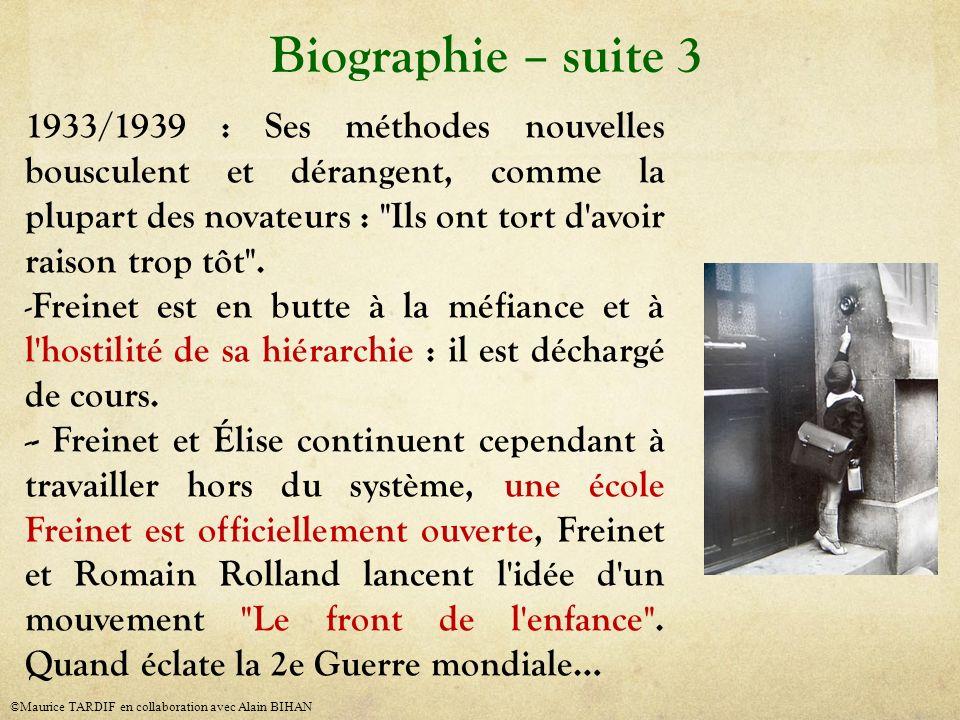 Biographie – suite 3