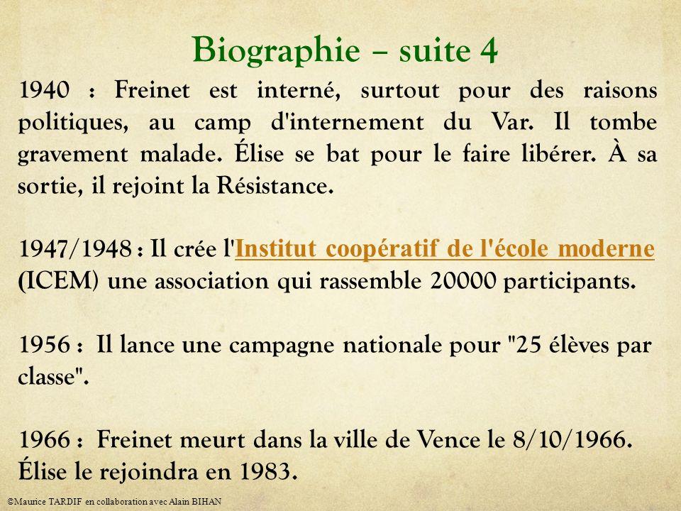 Biographie – suite 4