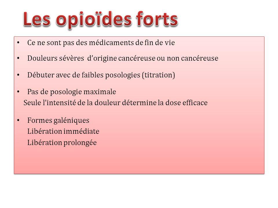 Les opioïdes forts Ce ne sont pas des médicaments de fin de vie