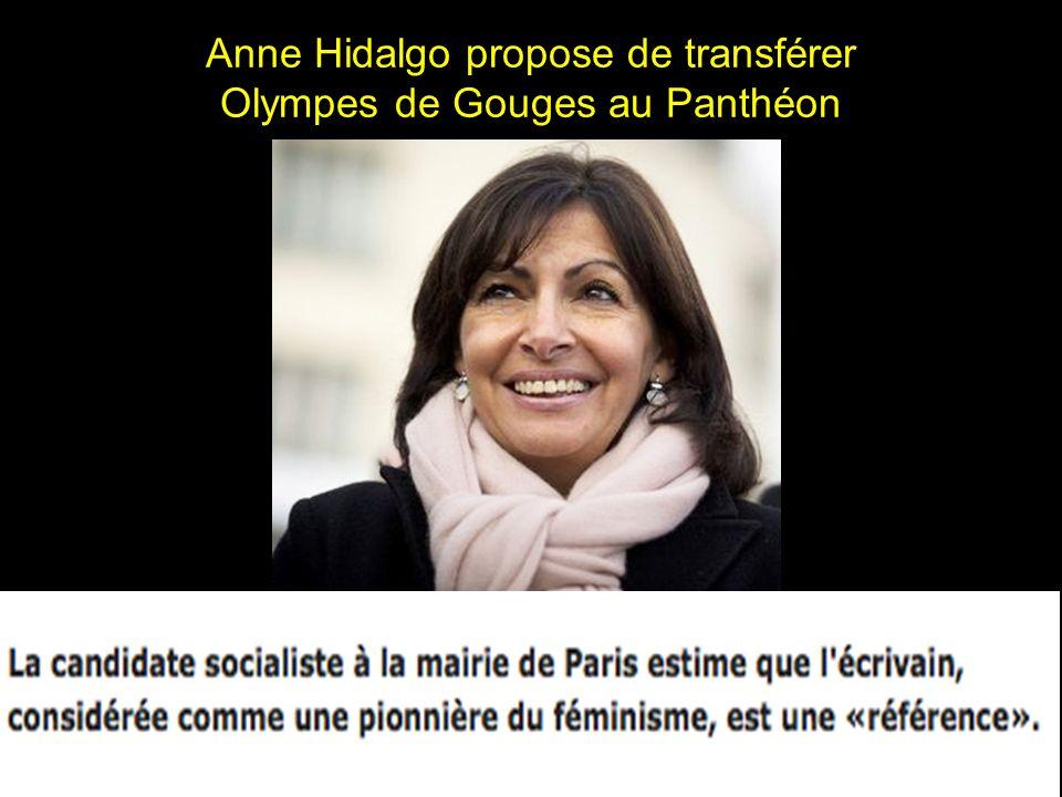 Anne Hidalgo propose de transférer Olympes de Gouges au Panthéon