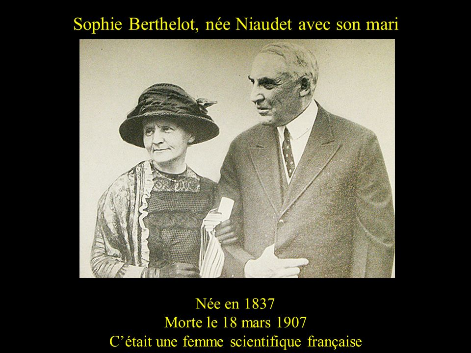 Sophie Berthelot, née Niaudet avec son mari