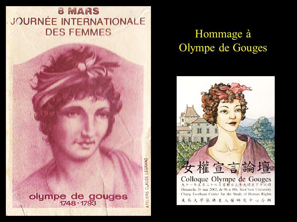 Hommage à Olympe de Gouges