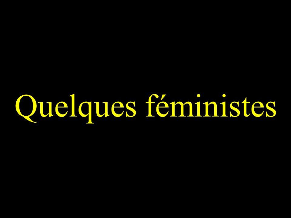 Quelques féministes