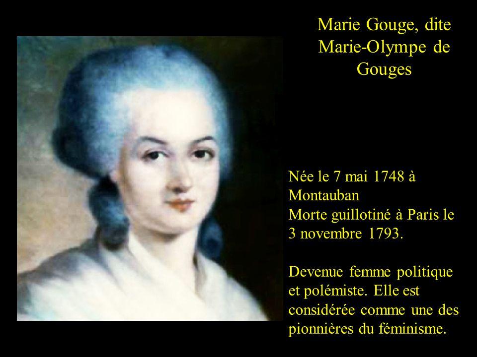 Marie Gouge, dite Marie-Olympe de Gouges