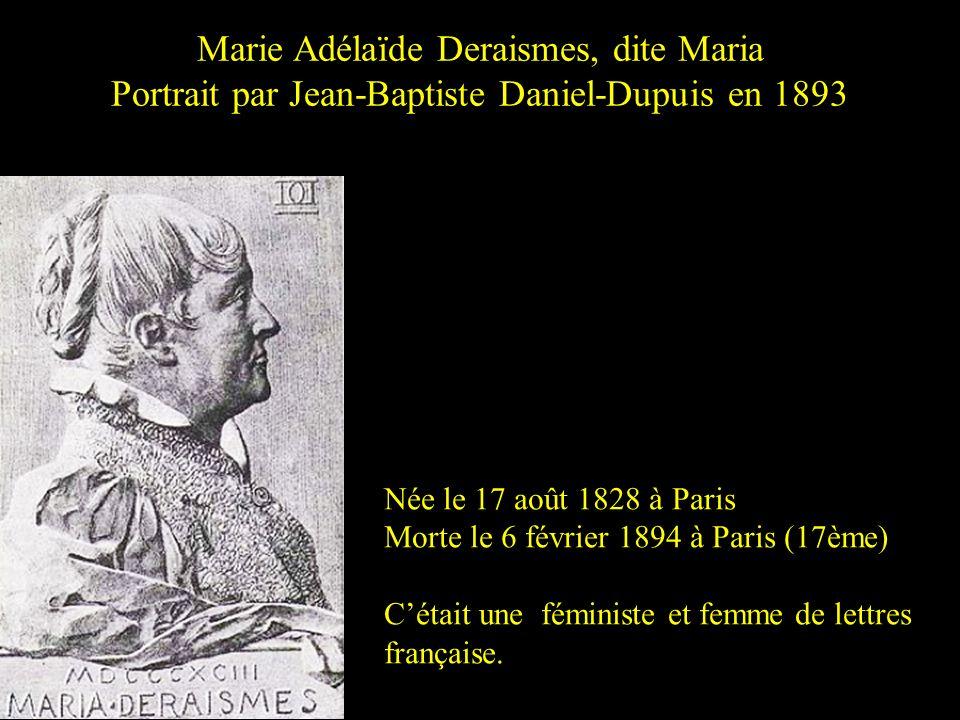 Marie Adélaïde Deraismes, dite Maria
