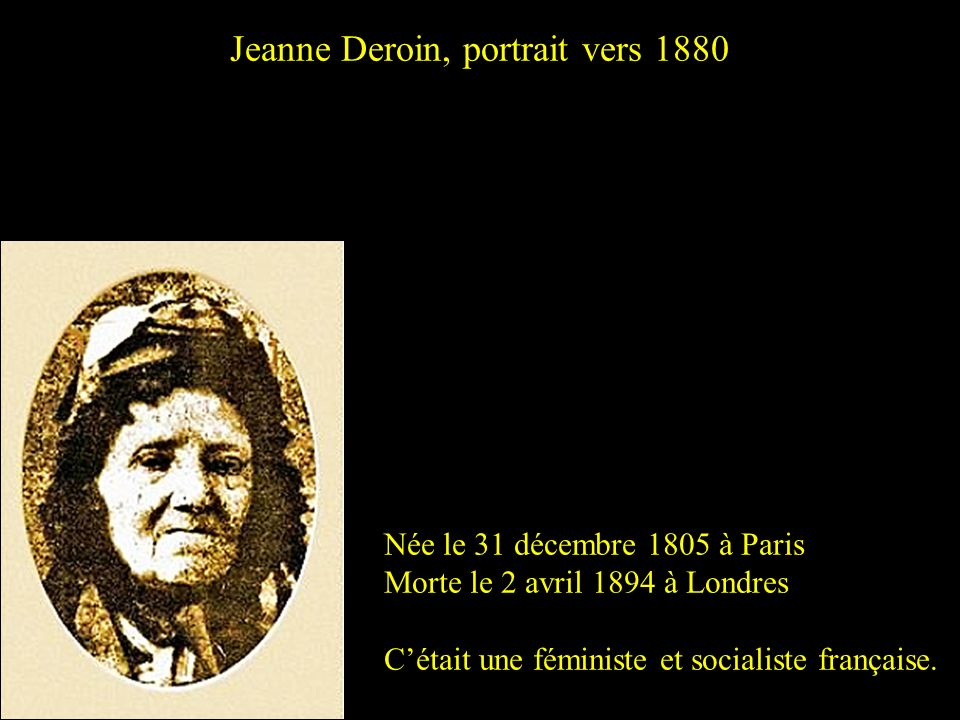 Jeanne Deroin, portrait vers 1880