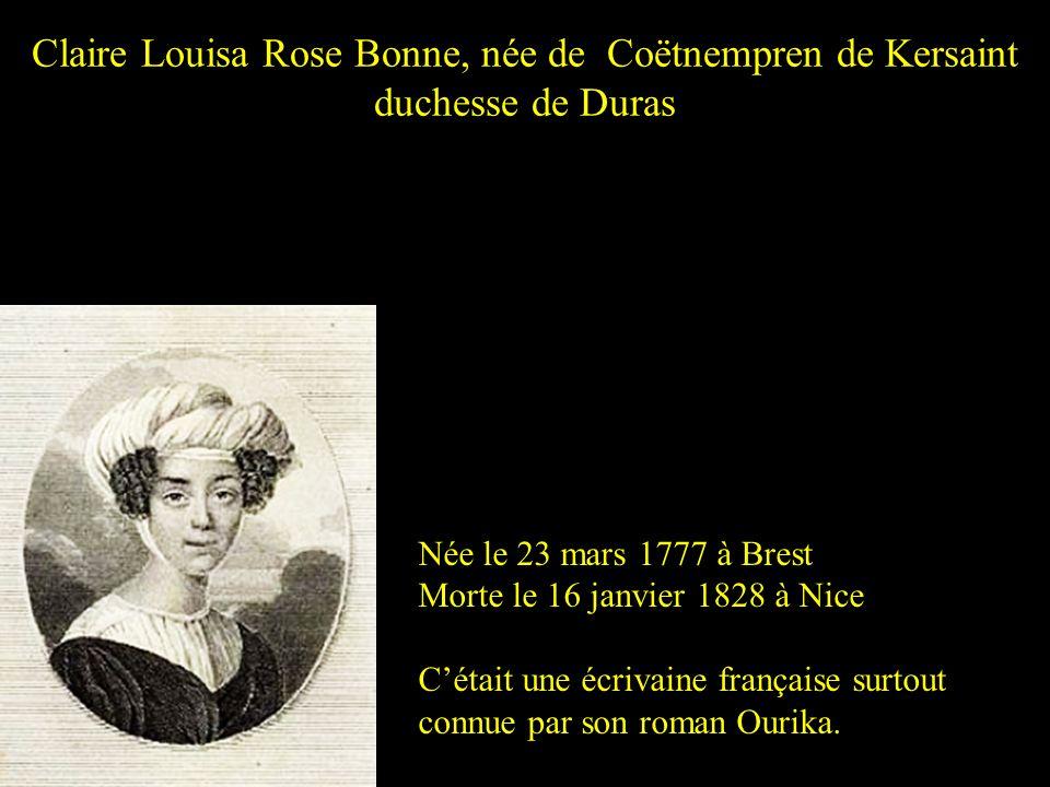 Claire Louisa Rose Bonne, née de Coëtnempren de Kersaint duchesse de Duras