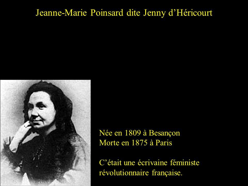Jeanne-Marie Poinsard dite Jenny d'Héricourt
