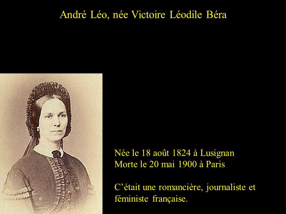 André Léo, née Victoire Léodile Béra