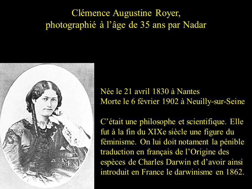 Clémence Augustine Royer, photographié à l'âge de 35 ans par Nadar