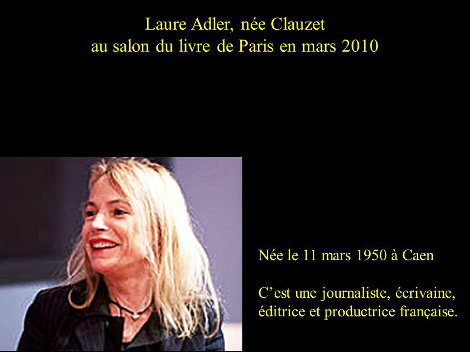 Laure Adler, née Clauzet au salon du livre de Paris en mars 2010