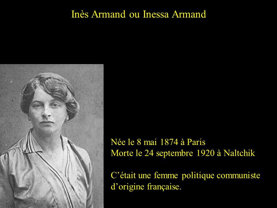 Inès Armand ou Inessa Armand