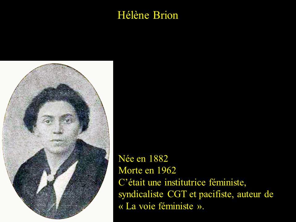 Hélène Brion Née en 1882 Morte en 1962