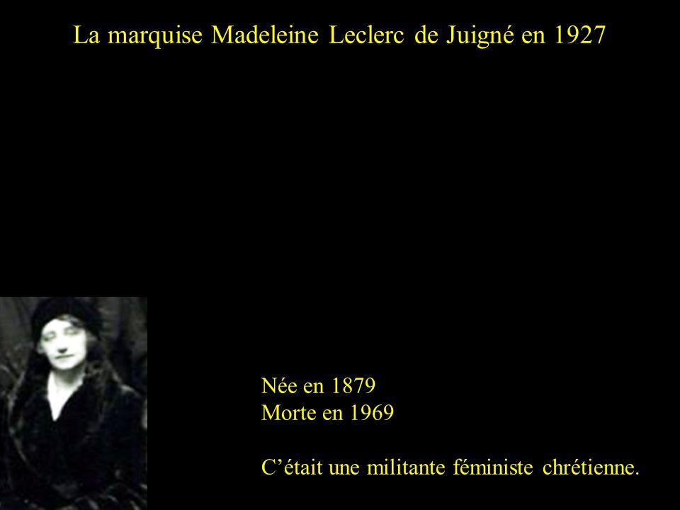 La marquise Madeleine Leclerc de Juigné en 1927