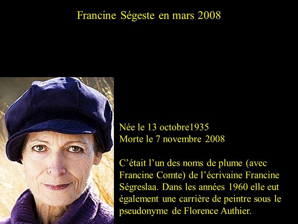 Francine Ségeste en mars 2008