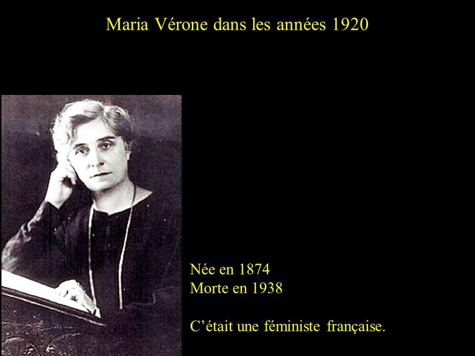 Maria Vérone dans les années 1920
