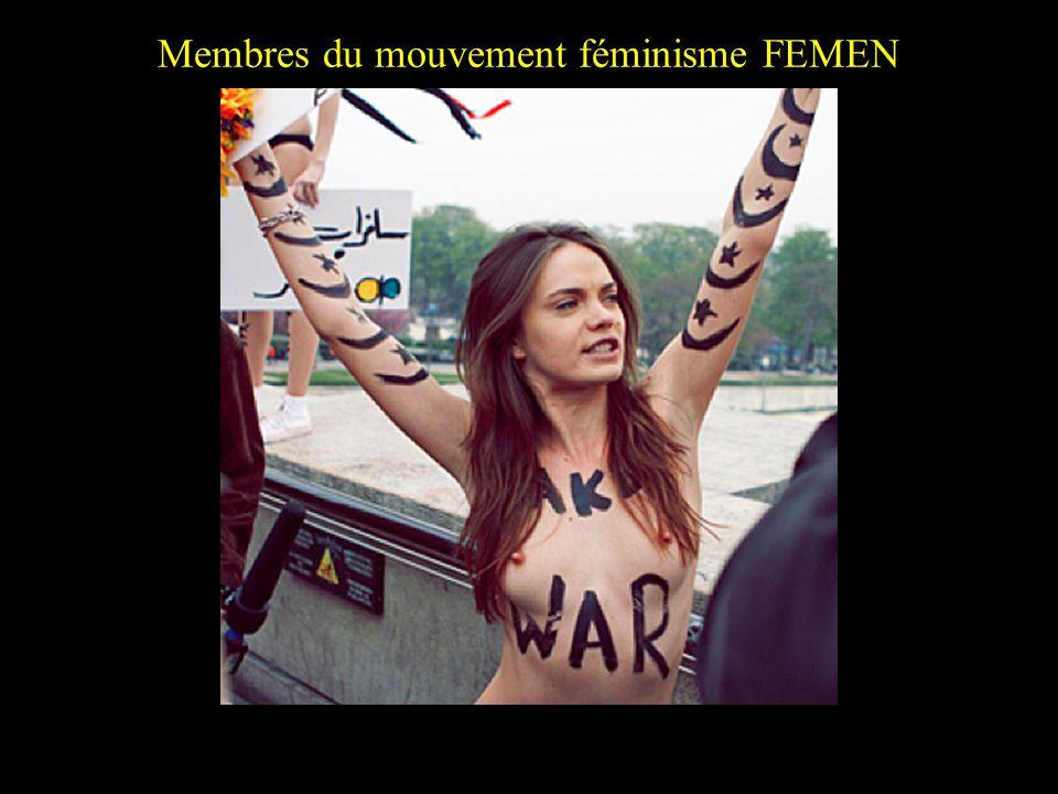 Membres du mouvement féminisme FEMEN