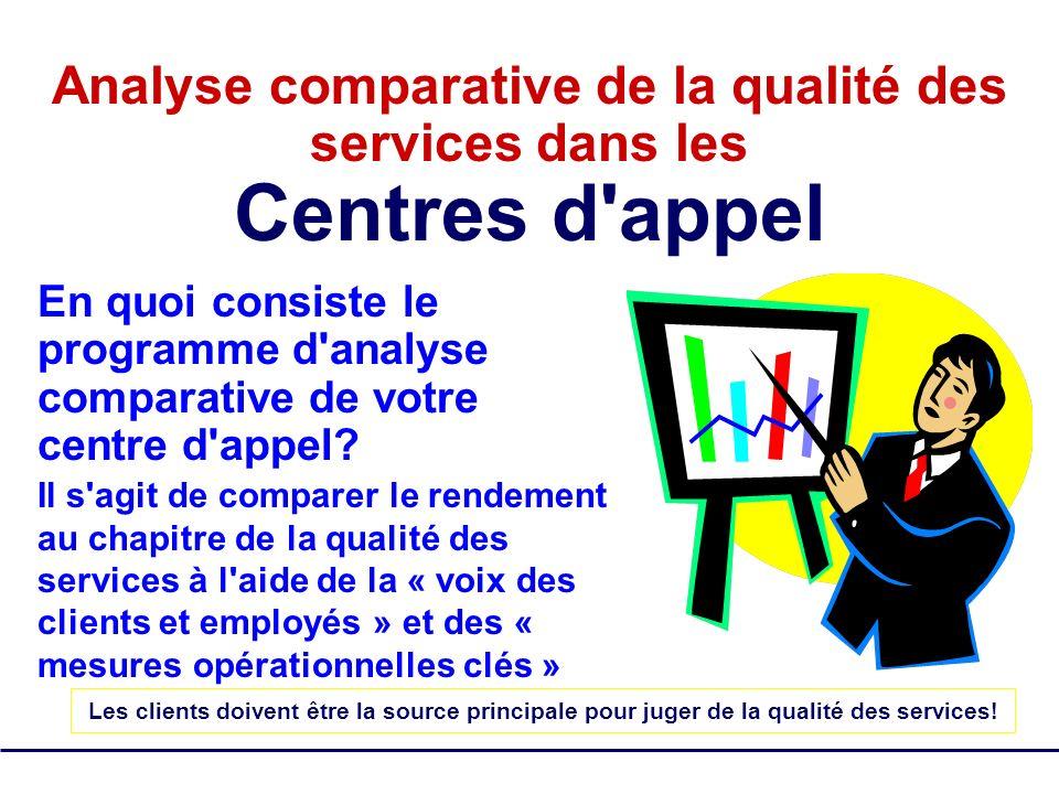 Analyse comparative de la qualité des services dans les