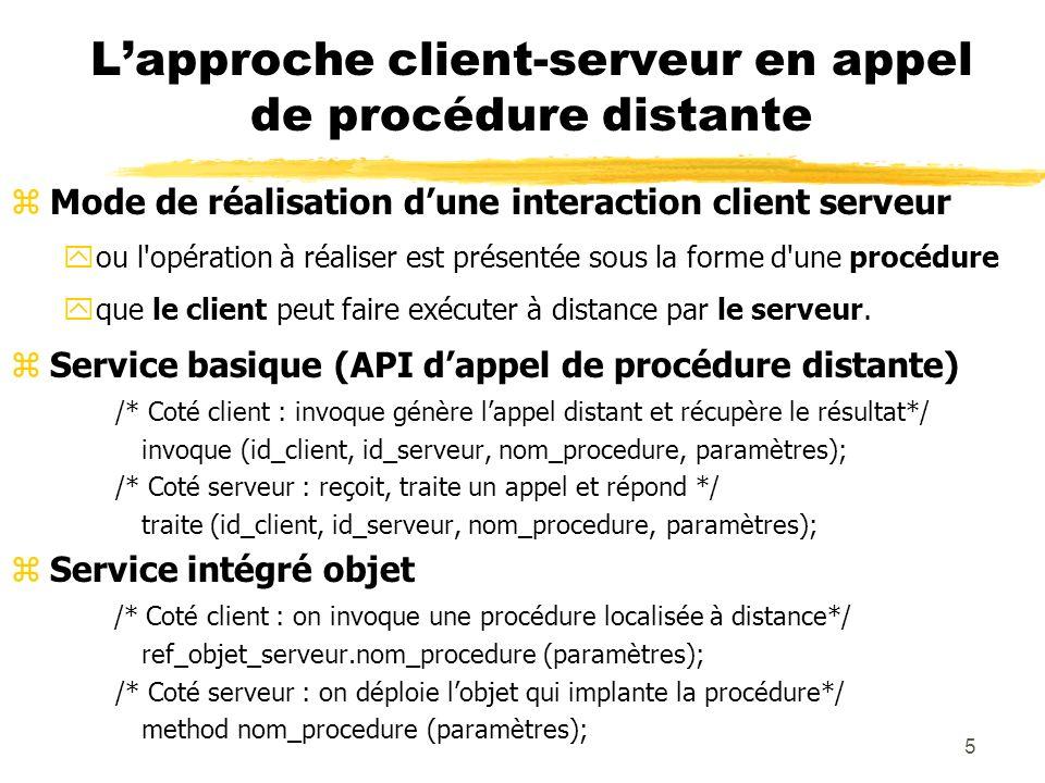 L'approche client-serveur en appel de procédure distante