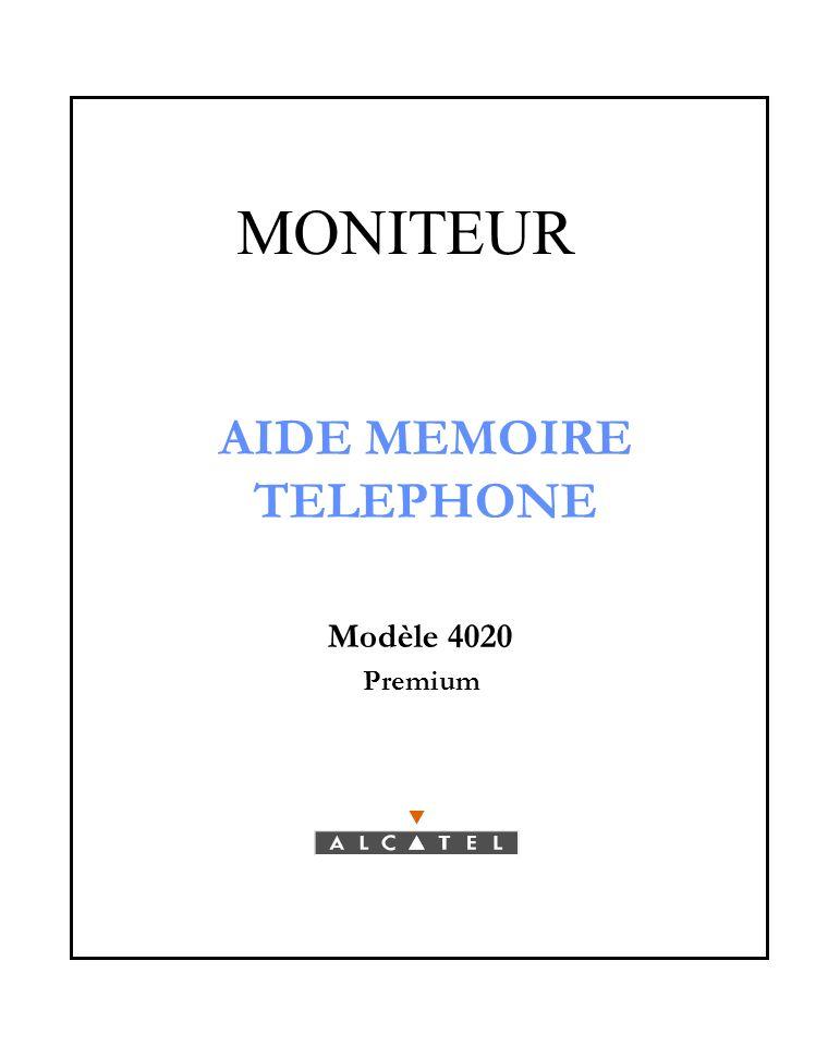 MONITEUR AIDE MEMOIRE TELEPHONE Modèle 4020 Premium