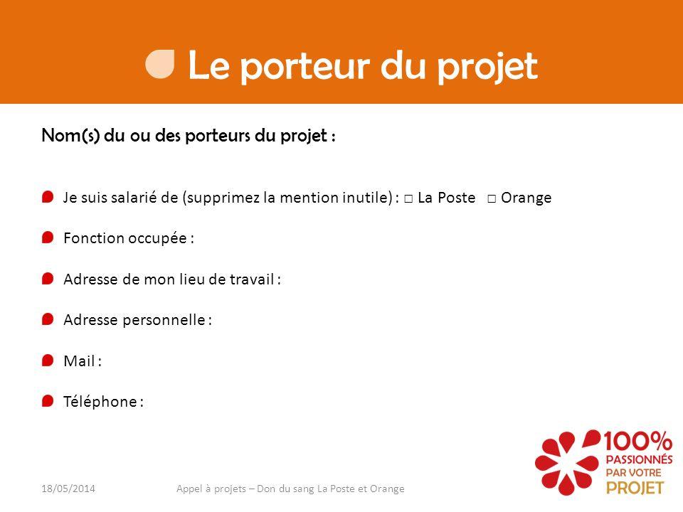 Appel à projets – Don du sang La Poste et Orange