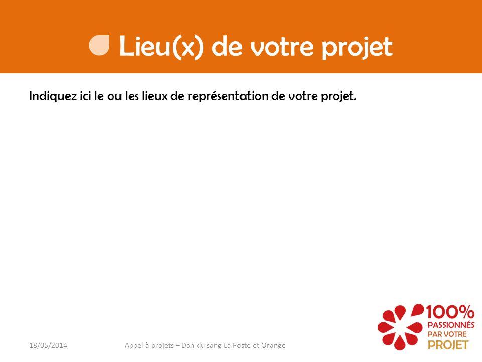 Lieu(x) de votre projet