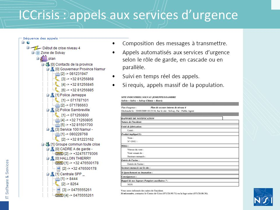ICCrisis : appels aux services d'urgence
