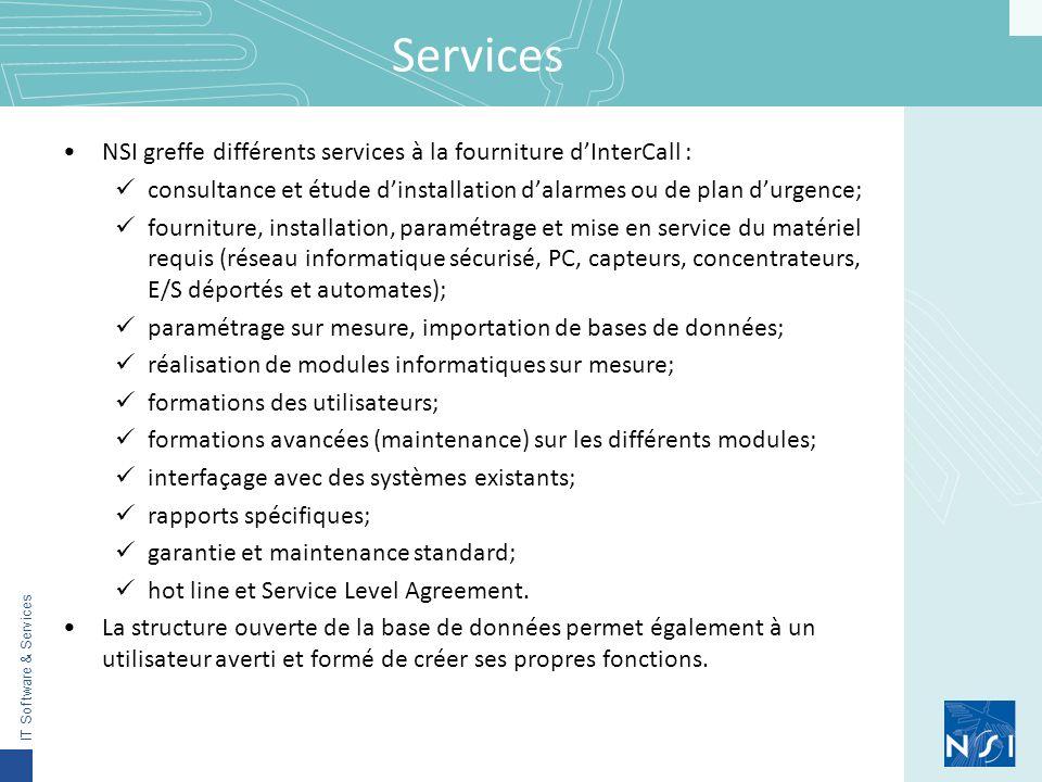 Services NSI greffe différents services à la fourniture d'InterCall :