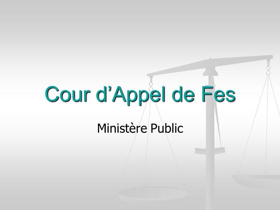 Cour d'Appel de Fes Ministère Public