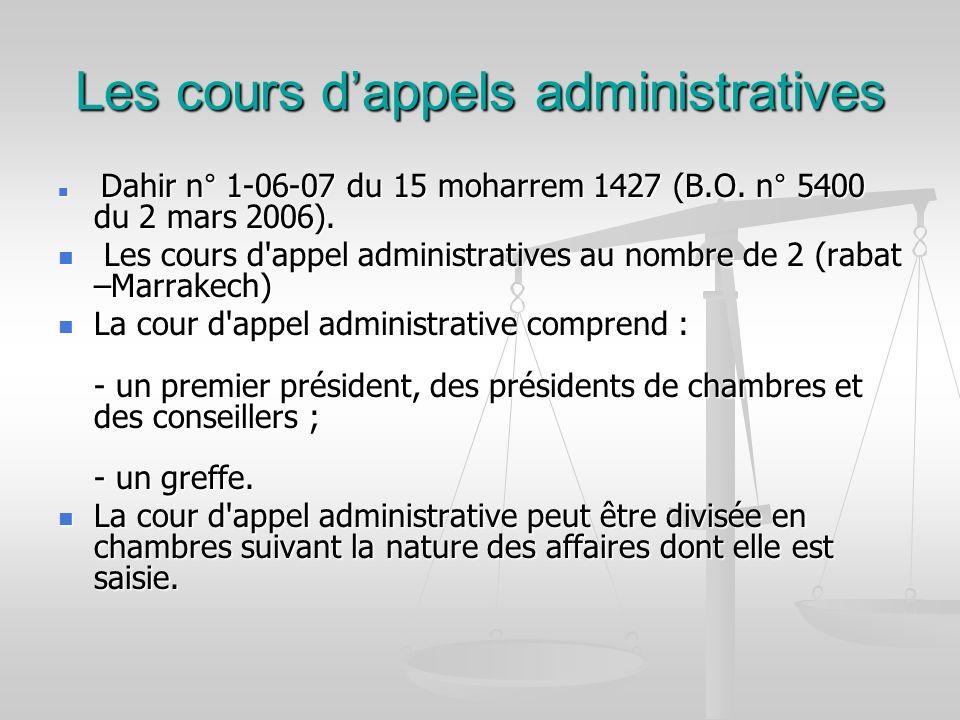Les cours d'appels administratives
