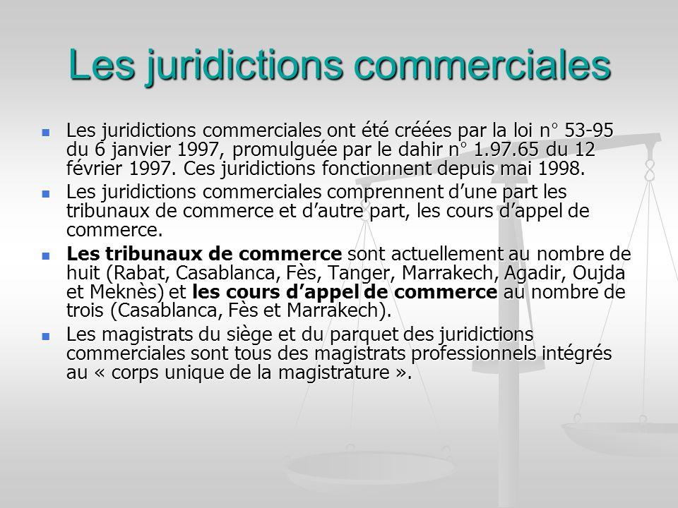 Les juridictions commerciales