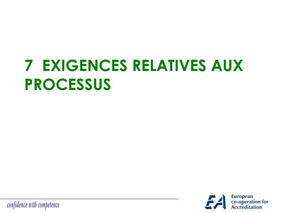 7 Exigences relatives aux processus