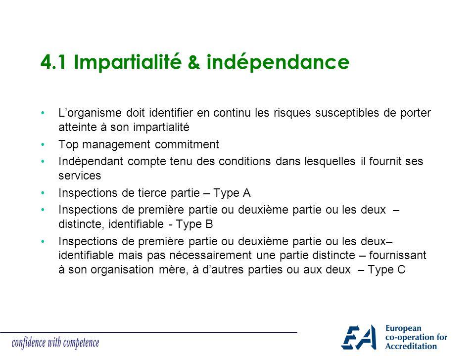 4.1 Impartialité & indépendance