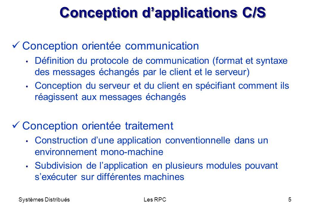 Conception d'applications C/S