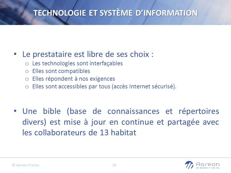 TECHNOLOGIE ET SYSTÈME D'INFORMATION