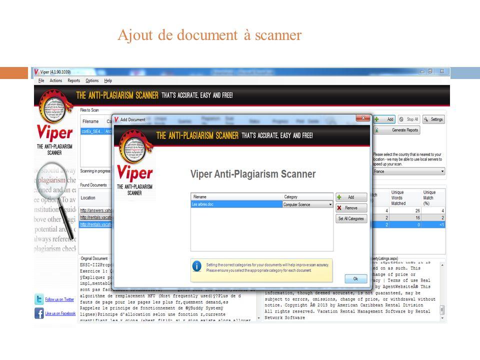 Ajout de document à scanner