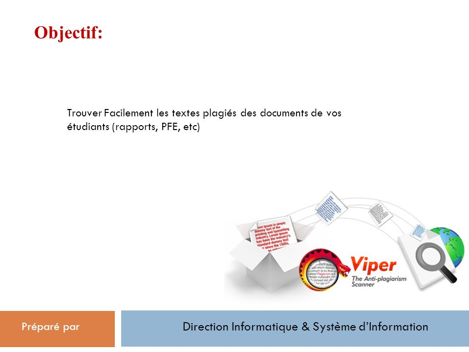Direction Informatique & Système d'Information