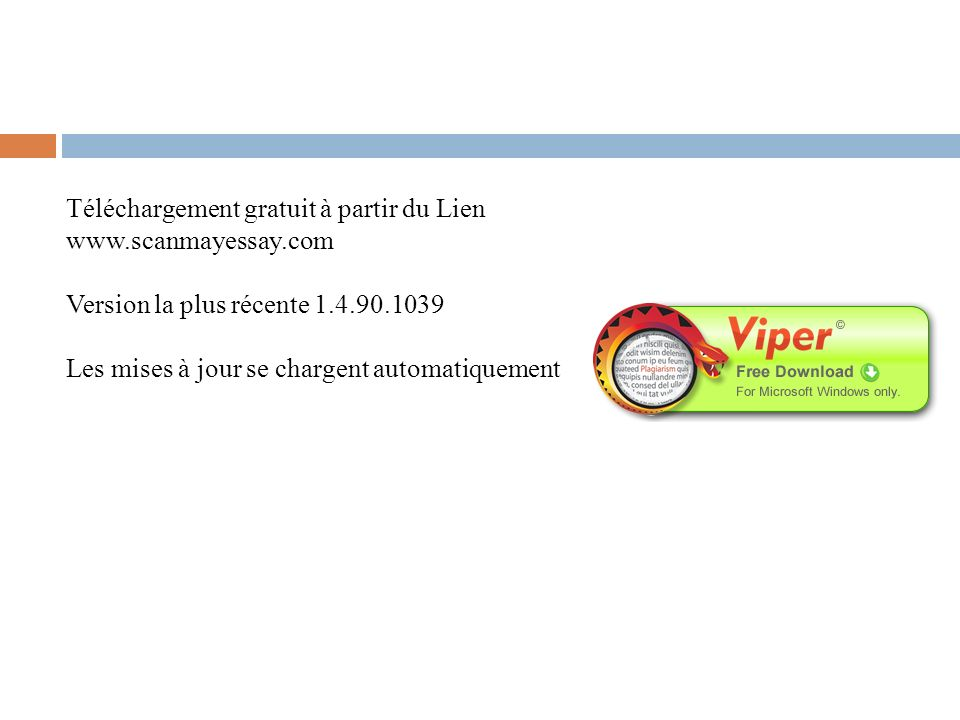 Téléchargement gratuit à partir du Lien www.scanmayessay.com
