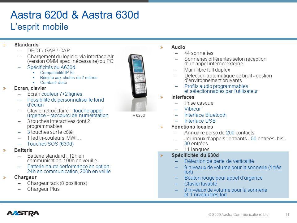 Aastra 620d & Aastra 630d L'esprit mobile