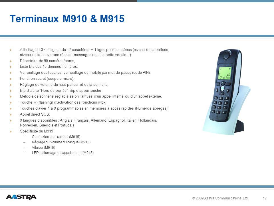 Terminaux M910 & M915