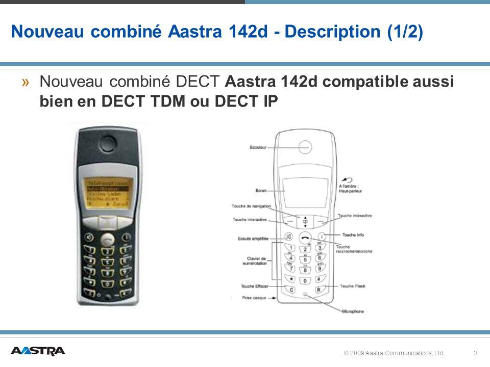 Nouveau combiné Aastra 142d - Description (1/2)