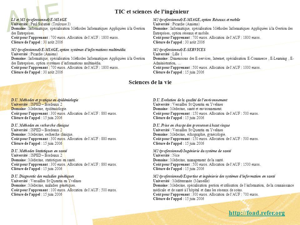 http://foad.refer.org TIC et sciences de l'ingénieur