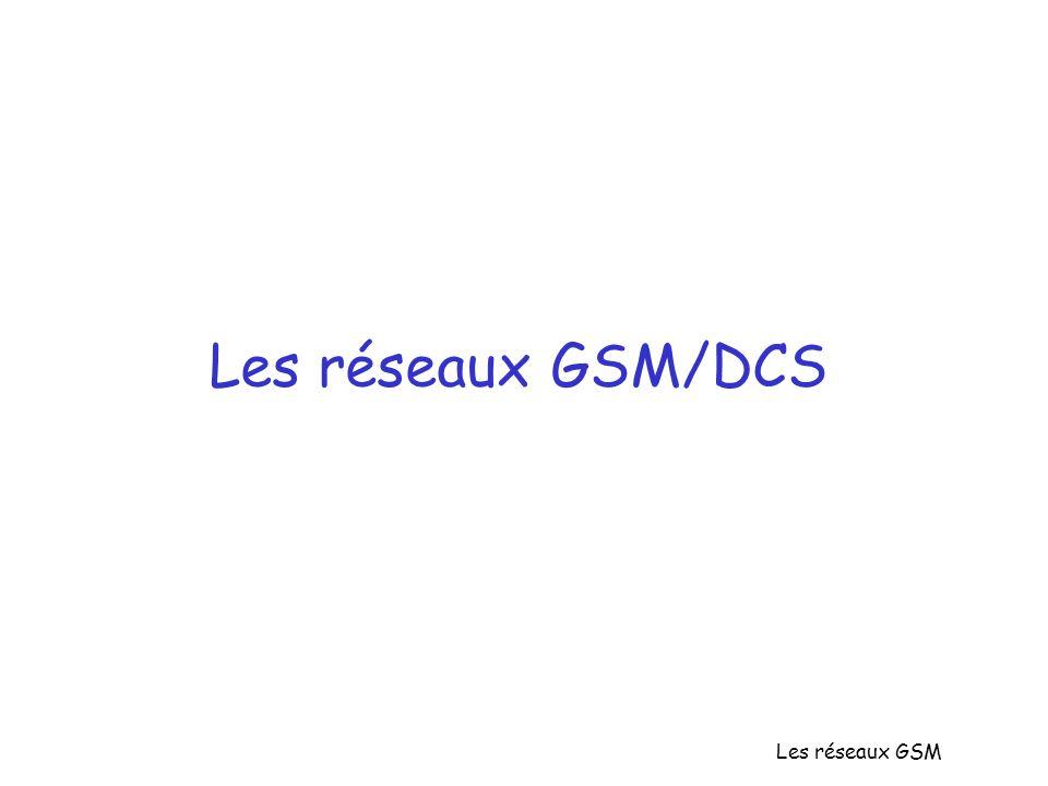 Les réseaux GSM/DCS Les réseaux GSM