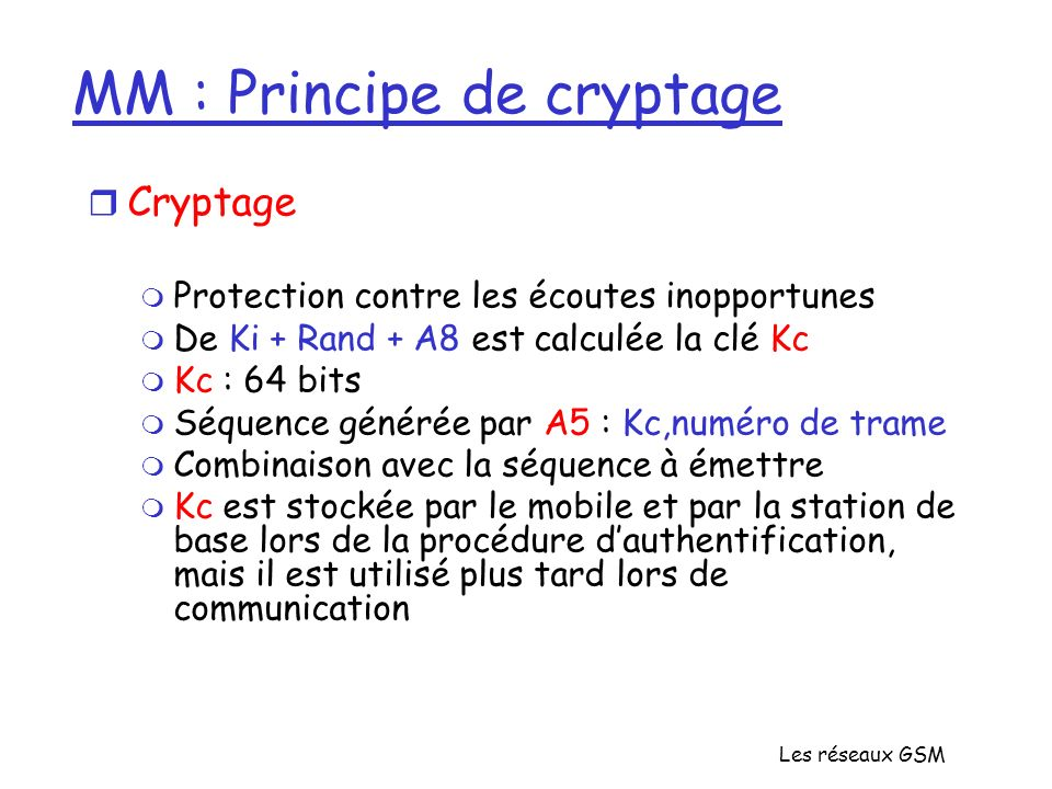 MM : Principe de cryptage