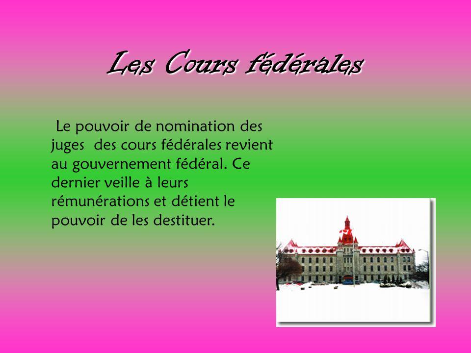 Les Cours fédérales