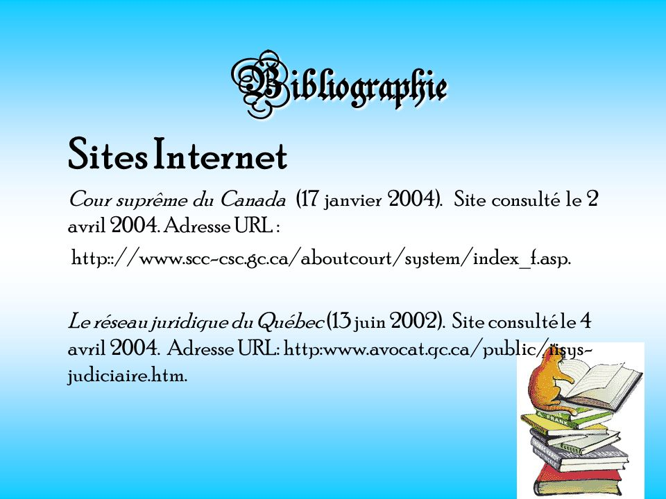 Bibliographie Sites Internet