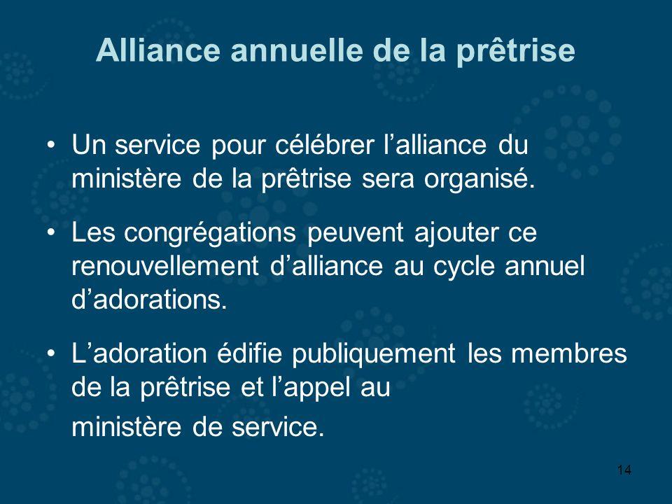 Alliance annuelle de la prêtrise