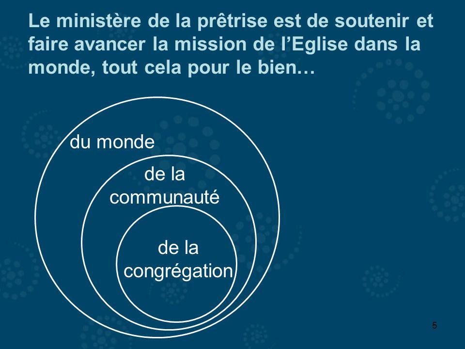 Le ministère de la prêtrise est de soutenir et faire avancer la mission de l'Eglise dans la monde, tout cela pour le bien…