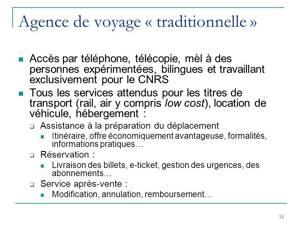 Agence de voyage « traditionnelle »
