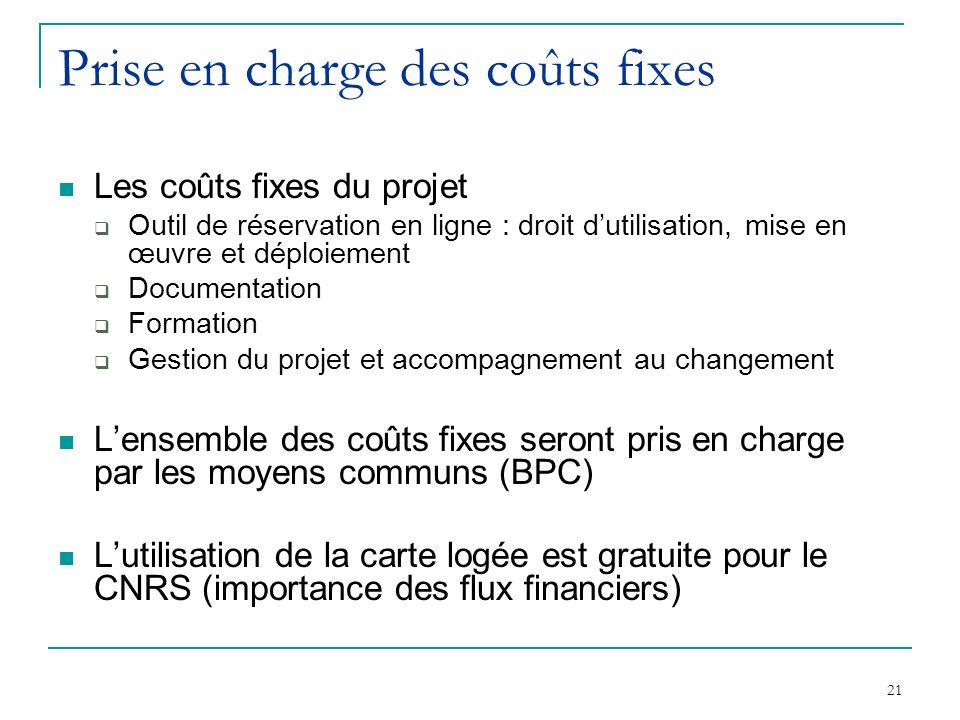 Prise en charge des coûts fixes